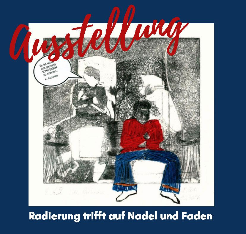 Read more about the article Ausstellung im KunstKabinett: Ute Reinecke – Radierung trifft auf Nadel undFaden